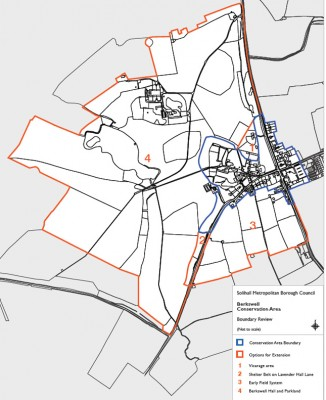 Berkswell conservation area boundaries c.2012